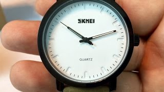 15 aposon skmei casual dress simple fashion classic white design watch review giveaway