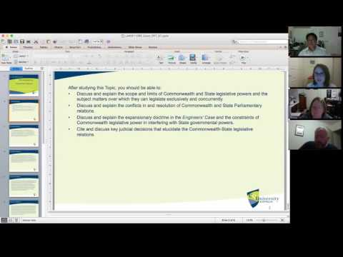 Australian Constitutional Law Tutorial: Federal-State Relations (Week 7)