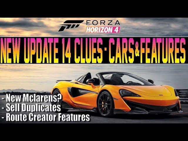 Forza Horizon 4 - New Update 14 CLUES! New SuperCars +