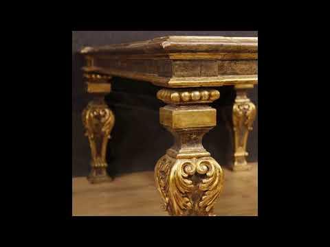 Tavolino italiano laccato e dorato in stile Luigi XVI - YouTube