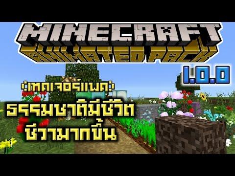 ดอกไม้ใบ้หญ้าพืชผักบล็อคและอื่นๆเคลื่อนไหวมีชีวิตชีวาหน้าเล่นมาก Minecraft PE 1.0.0 (เทคเจอร์แพค)