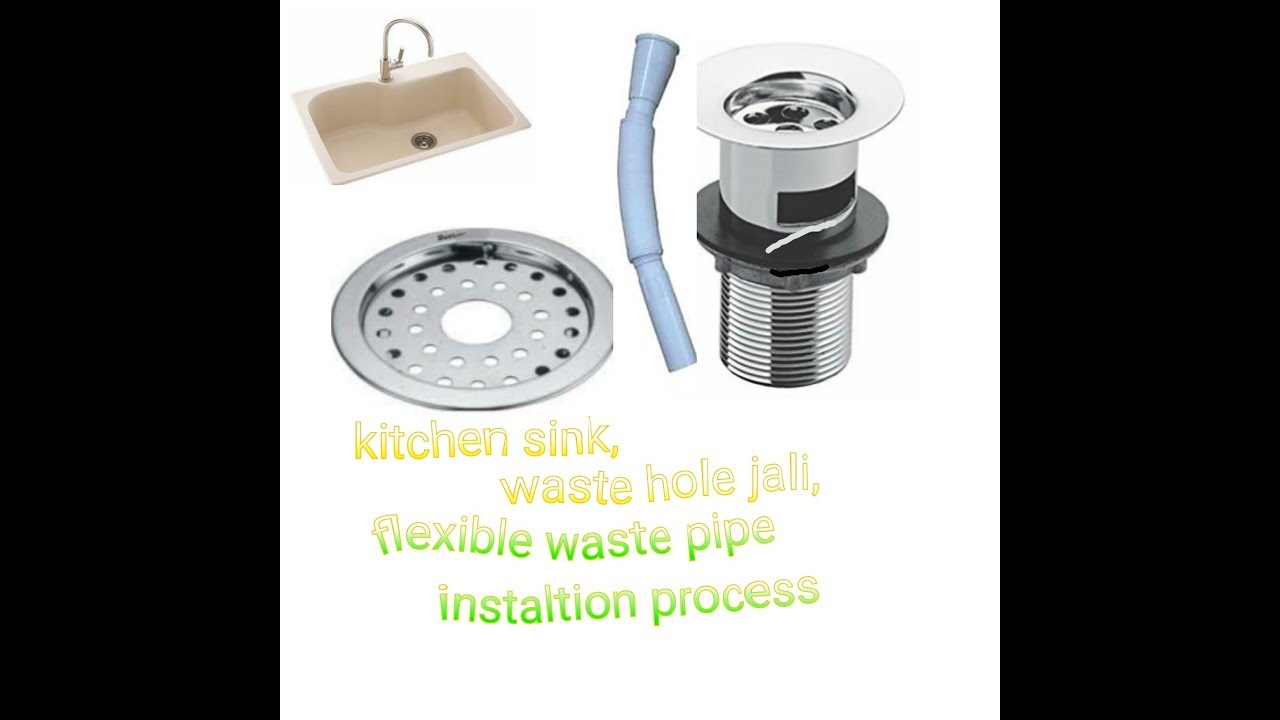 Kitchen sink,waste pipe,jali fittings - YouTube