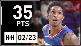 Lou Williams Full Highlights Clippers vs Suns (2018.02.23) - 35 Points off the Bench, HOT!