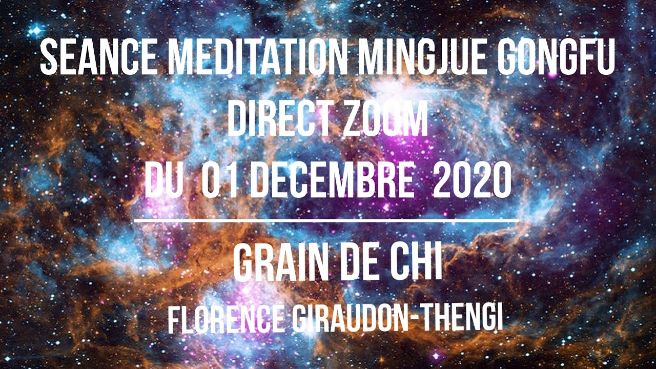 Seance Zoom- 2eme  Médiation assise Mingjue Gongfu -1er Dec 20