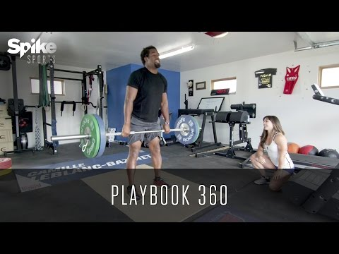 Dhani Jones Works Out With CrossFit Champ Camille Leblanc-Bazinet - Playbook 360