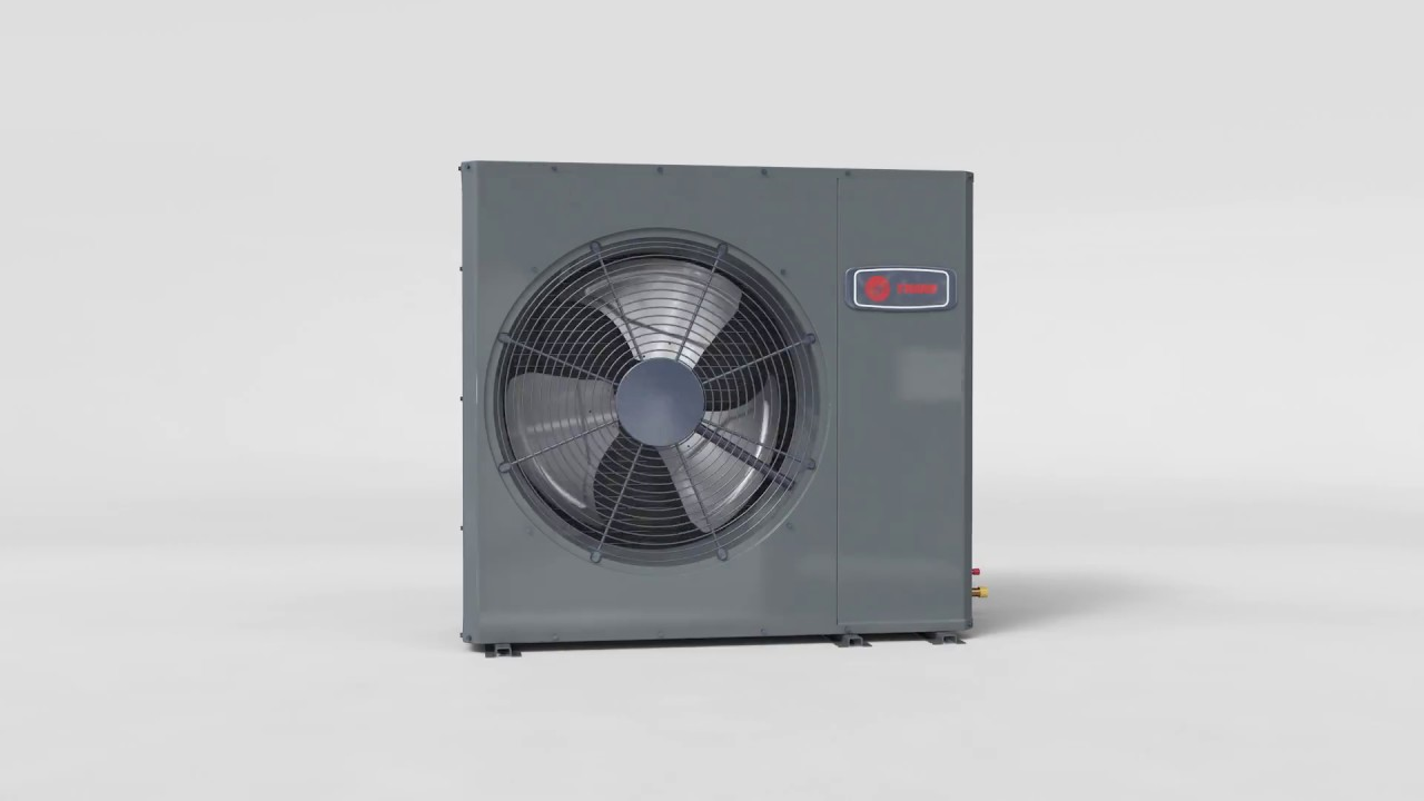 Trane S Xr16 Side Discharge Air Conditioner Youtube