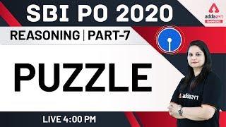 Puzzle (Part -7)   Reasoning   SBI PO 2020 Preparation