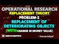 Replacement of objects WITH change in Money Value | Replacement Problems in Operation Research
