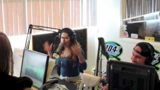 Cecy B @ Rico and Mambo Radio Q104.7 interview new music preview