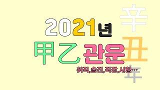 2021년 신축년 甲乙木 관운(취업,승진,직장,시험 등등)