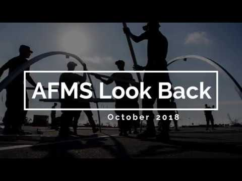 Check out the highlights of what happened around the AFMS during October 2018.