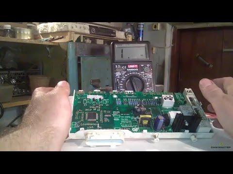 Резкое вращение барабана. Стиральная машина – ремонт модуля управления