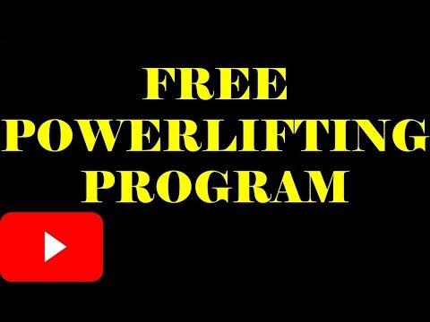 FREE POWERLIFTING PROGRAM