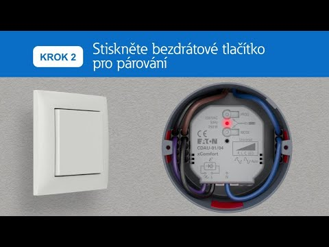 A  Párování tlaítka s jedním aktorem (základní reim)  videoprvodce xComfort Go Wireless