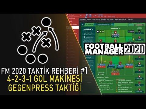 FM 2020 Taktik Rehberi #1 | 4-2-3-1 Gegenpress Gol Makinesi Taktik
