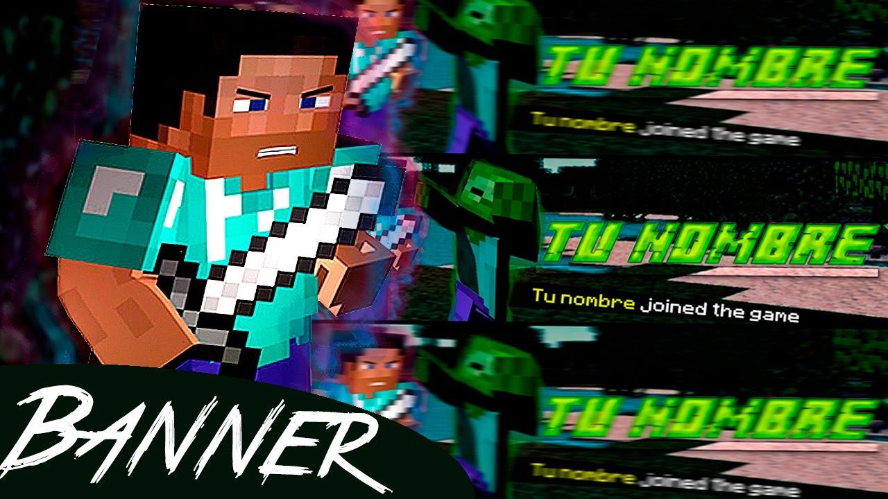 Banner Editable De Minecraft 2d Para Youtube Photoshop Cs6 Y Cc