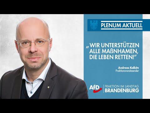 "Andreas Kalbitz (AfD): ""Wir unterstützen alle Maßnahmen, die Leben retten!"""