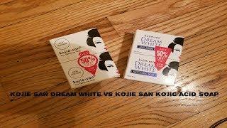 Kojie San Dream White vs Kojie San Kojic Acid Soap