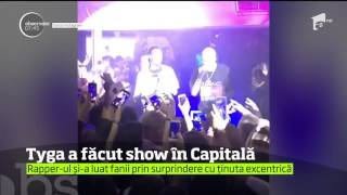 Celebrul rapper american Tyga a facut show intr-un club de fite din Capitala