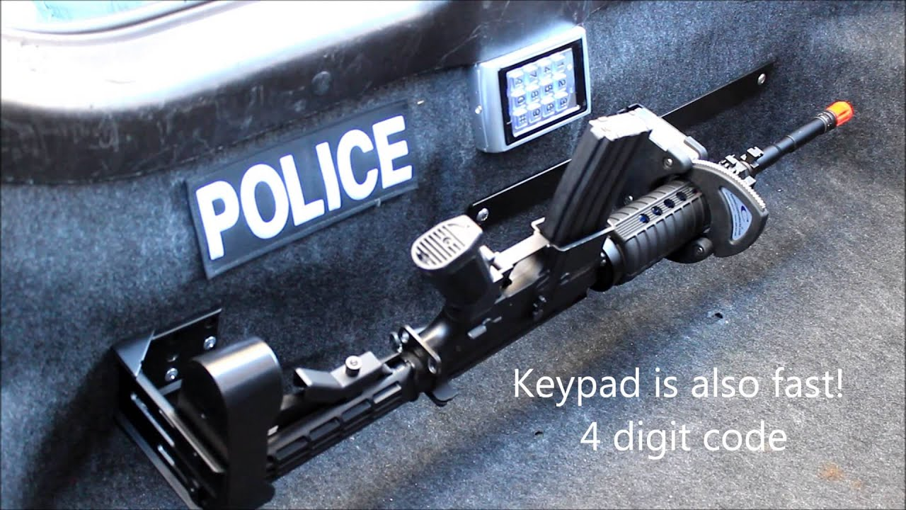 Police Vehicle Electronic Rifle Rack - RFID - YouTube