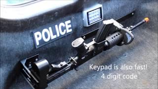 Police Vehicle Electronic Rifle Rack - RFID