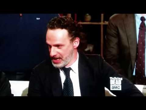 Andrew Lincoln vs.   Talking Dead 41518