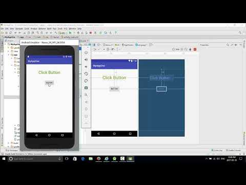 Android 2019 : Adding Code To A Button Click In Android Studio