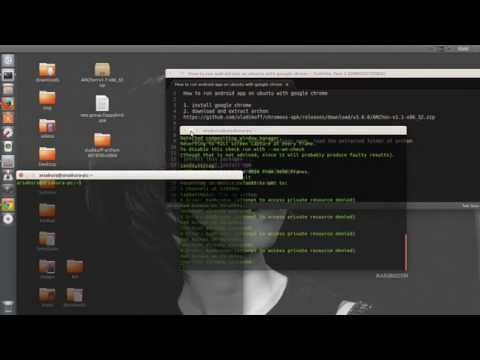 How to install android app on ubuntu or linux - YouTube