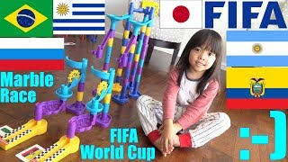 FIFA World Cup Marble Racing! Family Toy Racing Playtime. Marble Race #24. Toy Channel
