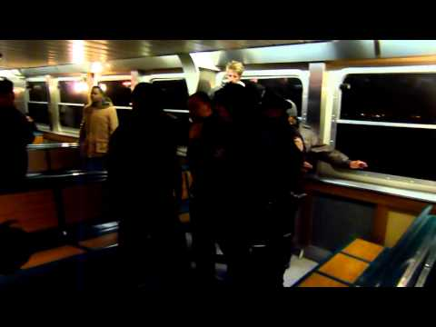 Staten Island Ferry Fight ! New Years Day 2011