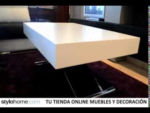 Mesa de centro autom tica elevable y extensible youtube for Mesa de centro elevable