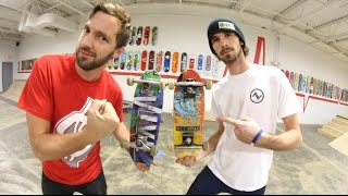 TINY SKATEBOARDS! Game of S.K.A.T.E. / Andy Schrock VS Alex Buening