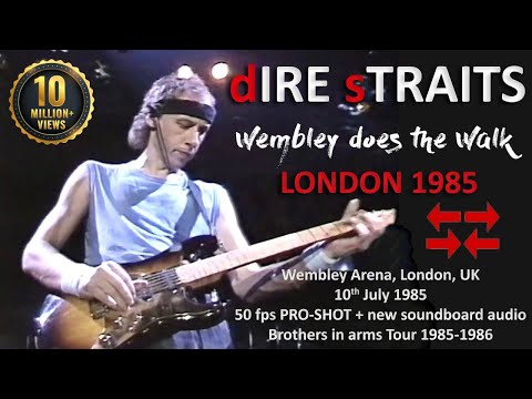 [50 fps] Dire Straits 1985 LIVE at Wembley, London [GREAT QU