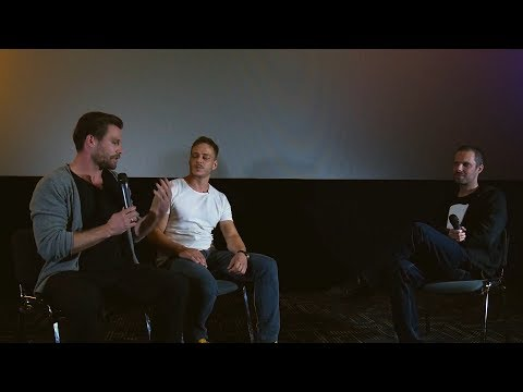 Tom Wlaschiha and Ken Duken: Generale Cinema table - Berlin Falling