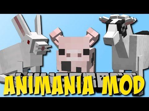 Minecraft Animania Mod 1.3 (Neue Hasen, Hamsterrad, Ziegen)