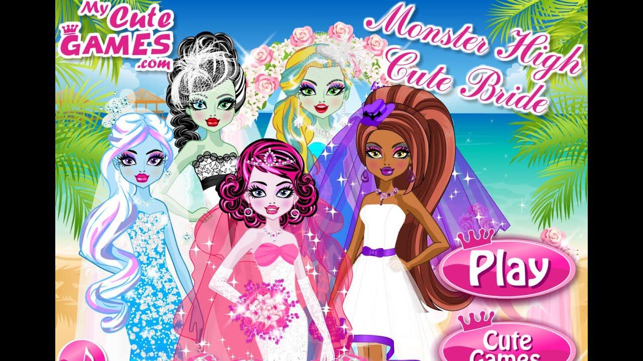 Игры для девочек свадьба монстр хай одевалки
