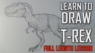 Learn how to draw a Tyrannosaurus T-rex - Jurassic Park Style.