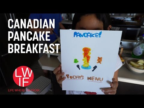 What Our Canadian Pancake Breakfast is Like