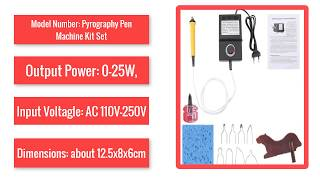 Pyrography Pen Machine Kit Set Wood Burning Crafts Tools Tip Holder Wood Leather Eu Plug