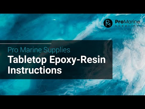 Pro Marine Supplies Table Top Epoxy Instructions - YouTube