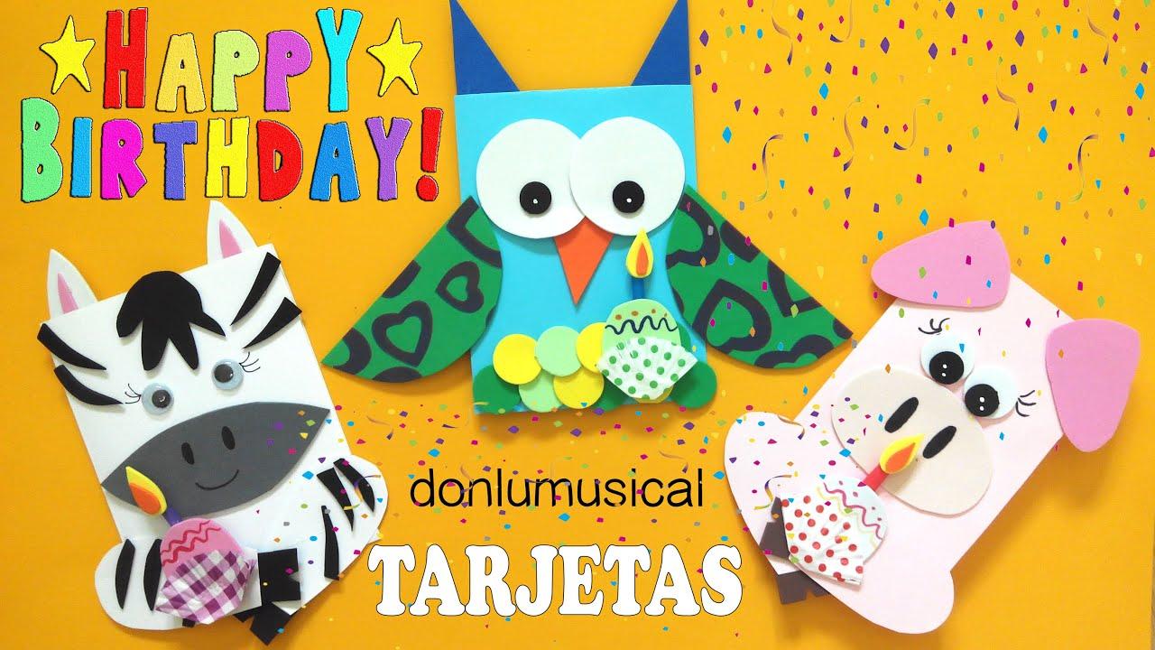 Diy tarjetas de cumplea os birthday cards youtube - Como hacer una felicitacion de navidad original ...