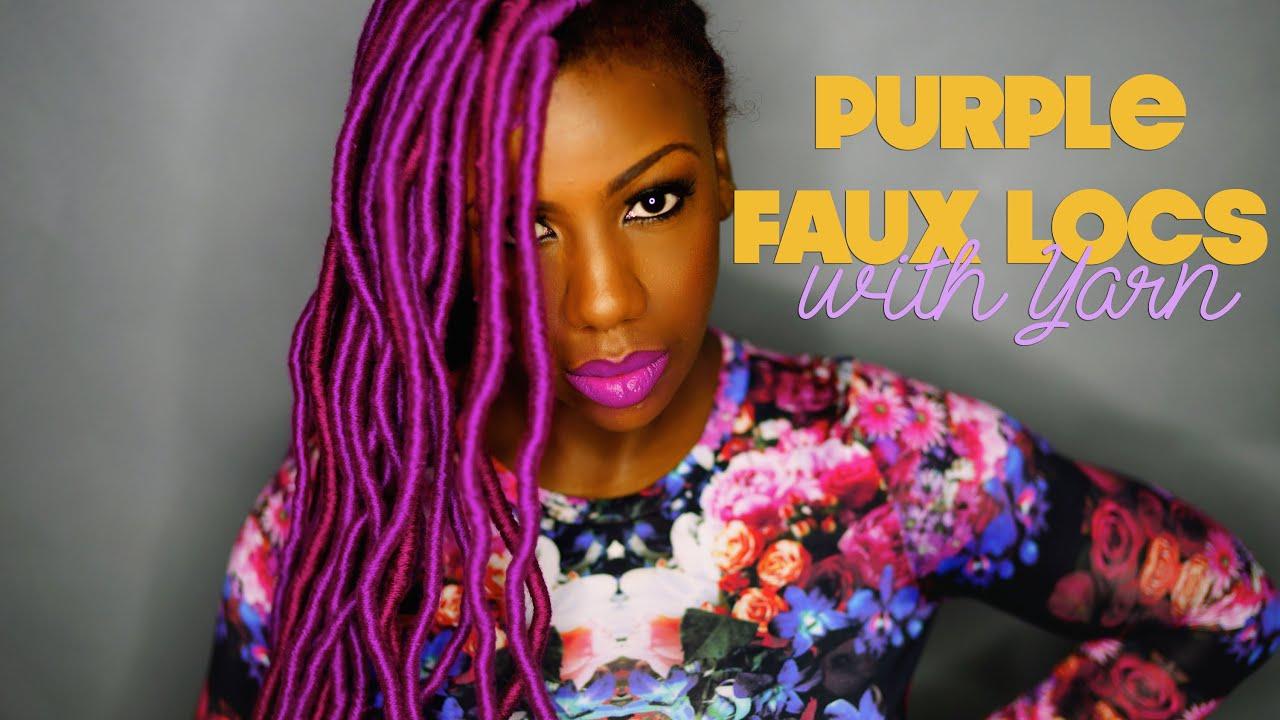 Purple Faux Locs Yarn Locs Genie Locs Youtube