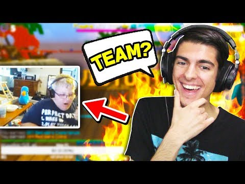 Teaming with STREAMERS in Minecraft Bedwars!