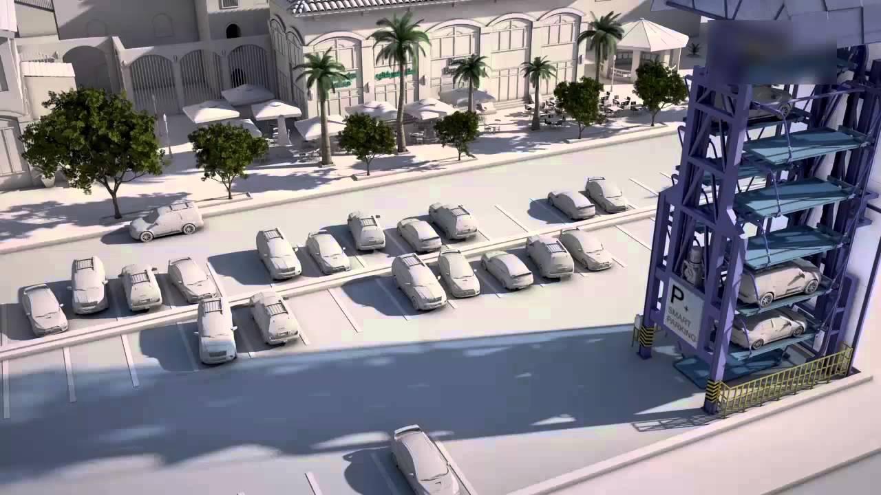 Smart Car Park Of South Korea Rotary Automated Parking