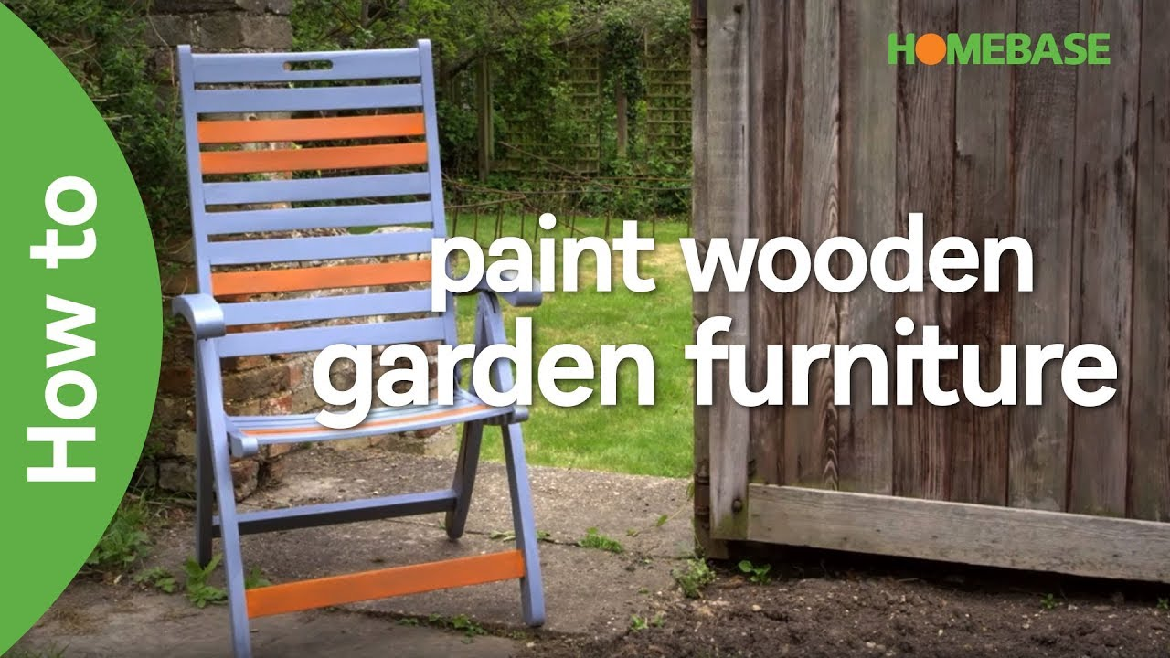 How To Paint Wooden Garden Furniture