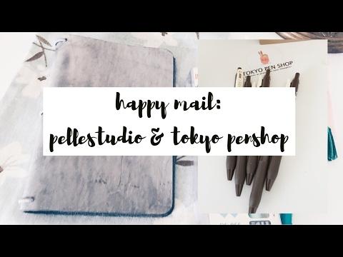 Pellestudio Waxed Gray Pelledori & Tokyo Pen Shop Haul