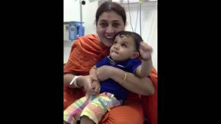 Ayaan with mama at Welcare