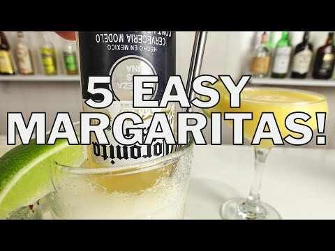 5 x EASY MARGARITA COCKTAIL RECIPES