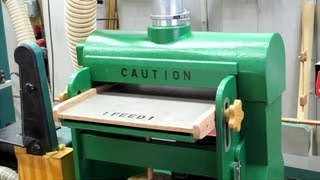 Construction article: http://woodgears.ca/reader/walters/drum_sander.html Shop Built Drum Sander - A modification to an old set of