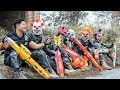 LTT Films : Silver Flash Black Man Nerf Guns Fight Criminal Group Tiger Mask Baseball Hunter